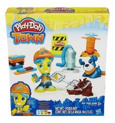 Playdoh figura y mascota town: obrero