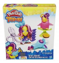 Playdoh figura y mascota town: peluquera