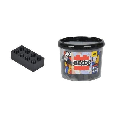 Blox bote con 40 bloques negros
