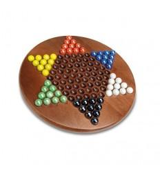 Damas chinas bolas cristal 30 cm. madera plus