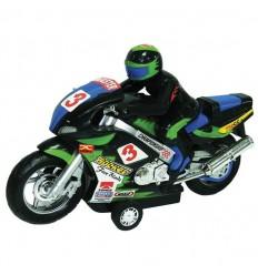 Moto con motorista fricción 28 cm