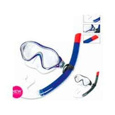 Set máscara de buceo y snorkel aero-form dive +14