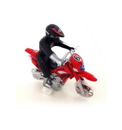 Moto fricción con motorista