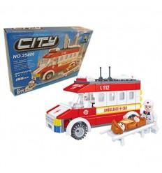 Ausini - serie city ambulancia 155 piezas