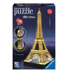 Puzzle 3d torre eiffel con luz