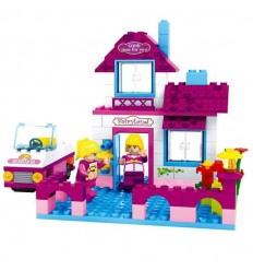 Mini casa rosa 164 piezas