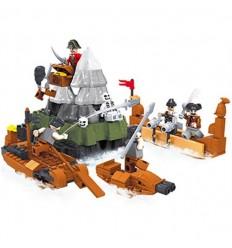 Batalla piratas en el mar 253 piezas