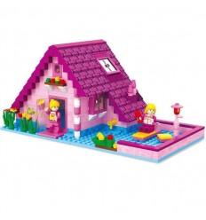 Casa rosa 277 piezas