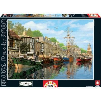 Puzzle 2000 barcas en el muelle