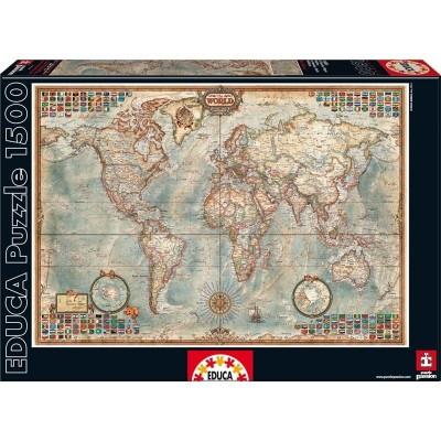 Puzzle 1500 puzzle mapa politico