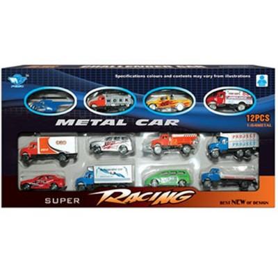 Caja 12 vehículos metal