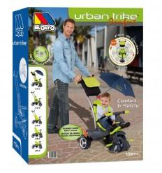 Triciclo deluxe. ruedas goma, giro 360 y sombrilla