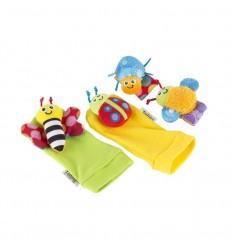 Lamaze sonajeros para muñeca y calcetines insectos