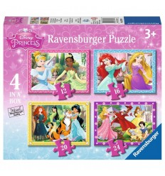 Puzzle progresivo princesas disney 4 en 1