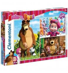Puzzle 3 x 48 masha y el oso