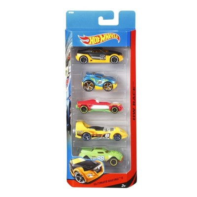 Pack 5 vehiculos hot wheels
