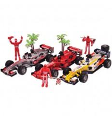 Equipo de carreras con sonido, 3 coches + acces.