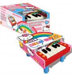 Piano de cola madera hello kitty