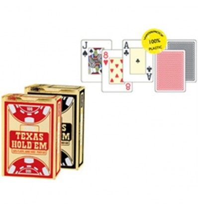 Texas hold'em 100% plastic poker gold negro