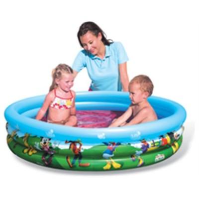 Mickey- piscina hinchable 3 anillos 122x25