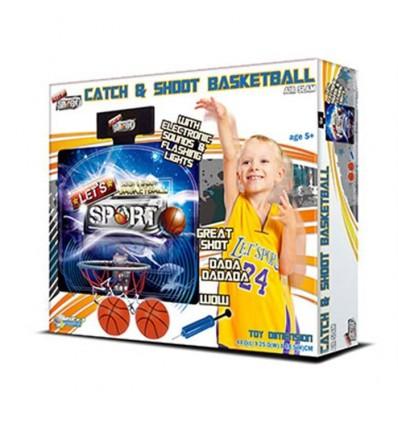 Tira y encesta canasta de basquet luz y sonido