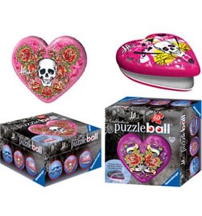 60 puzzleball estilo tatto corazon