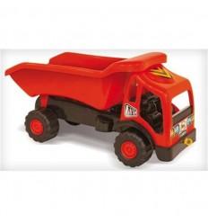 Camion volquete rojo