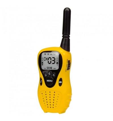 Walkie talkie 16cm alcance 80m negro o amarillo