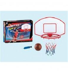 Canasta de baloncesto con pelota