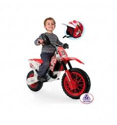 Moto enduro con casco 6 v.