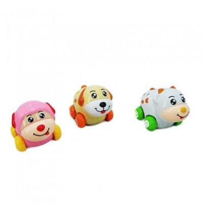 Conjunto 3 animalitos sobre ruedas