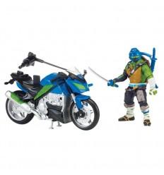 Tortuga ninja movie 2 moto + figura leonardo