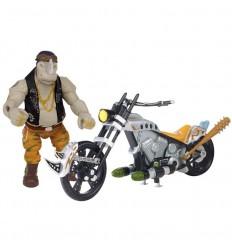 Tortuga ninja movie 2 moto + figura rocksteady