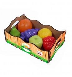 Caja madera con 6 frutas