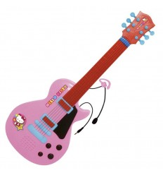 Guitarra electronica con micro hello kitty