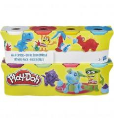Playdoh pack 4 + 4 botes