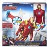 Avengers figura iron man 30 cm con vehiculo