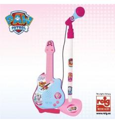 Micro y guitarra rosa paw patrol
