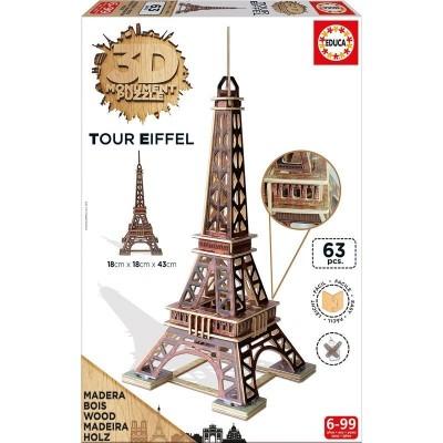 3d monument torre eiffel