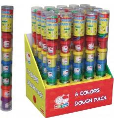 Tubo plastilina 6 colores y accesorios de trabajo