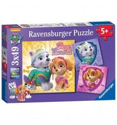 Puzzle 3 x 48 paw patrol