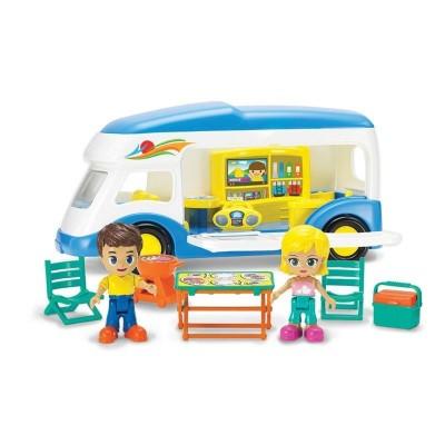 Caravana infantil con figuras y acc