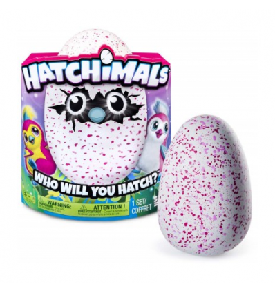 Hatchimals pinguino rosa