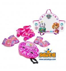 Mini roller /casco/protecciones paw patrol girl