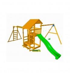 Parque infantil teide con columpio doble y puenteo