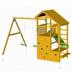 Parque infantil teide con columpio doble