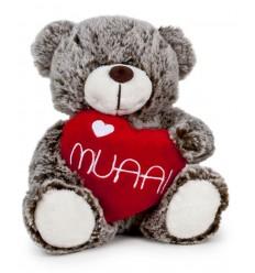 "Oso Corazón ""MUAA"" 18 cm"