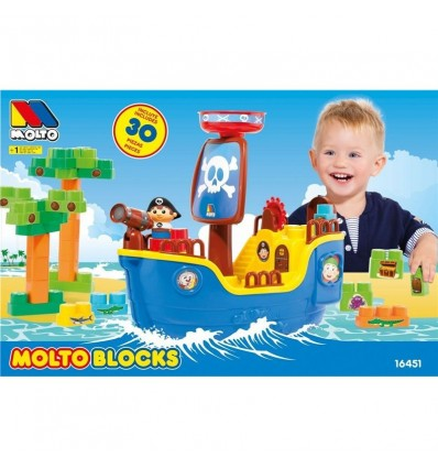 Barco pirata + 30 bloques t.v.