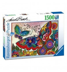Puzzle 1500 pz laurel burch: mariposas de colores