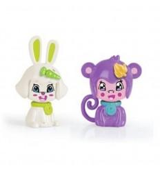 Pinypon pack 2 mascotas: conejo y mono